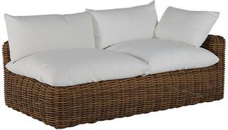 Montecito Right-Arm Outdoor Chaise - Raffia - SUMMER CLASSICS INC - frame, raffia; upholstery, white