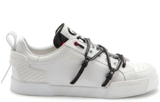 Dolce & Gabbana New Portofino Logo Strap Leather Runners