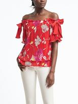 Banana Republic Floral Off-Shoulder Top