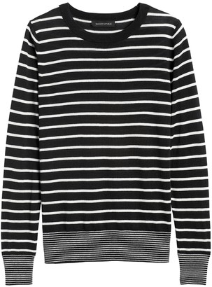 Banana Republic Petite Silk Cashmere Stripe Sweater