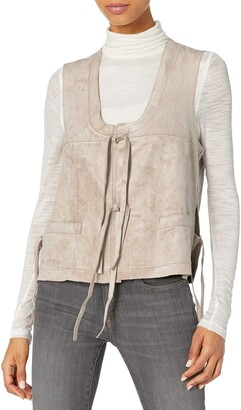 BCBGMAXAZRIA Women's Brent Sleeveless Vest W/Tie Front