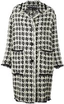 Rochas single breasted coat - women - Virgin Wool/Polyamide/Silk - 42