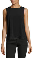 Kasper Suits Matte Jersey Lace-Trim Tank