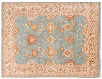 "9'x11'8"" Mislav Hand-Knotted Rug - Blue/Orange - Apadana Fine Rugs"