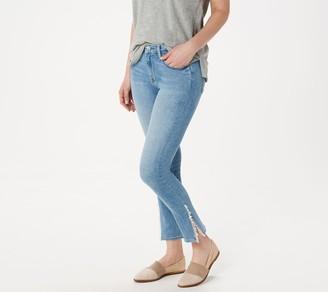 JEN7 by 7 For All Mankind Classic Cropped Jeansw/Pom Pom Trim