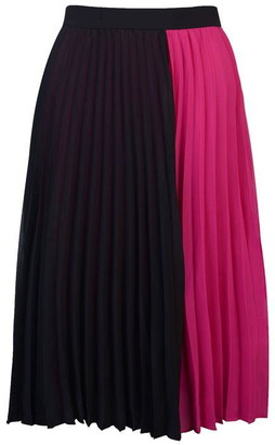 Vero Moda Solid Block Pleated Skirt