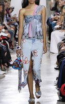 Peter Pilotto Denim Embroidered Skirt
