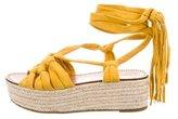 Sigerson Morrison Lace-Up Espadrille Sandals