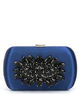 Kate Landry Jeweled Satin Oval Clutch