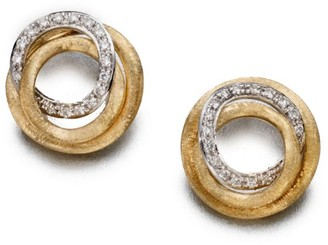 Marco Bicego Jaipur Link Diamond & 18K Yellow Gold Stud Earrings