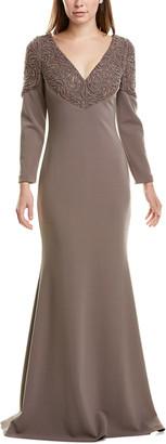 Badgley Mischka Laser Detail Gown