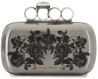 Alexander McQueen Rose-print box clutch