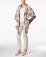 Charter Club Plaid Poncho Cardigan, Only at Macy's