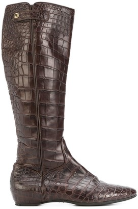 Calf Length Pointed Boots