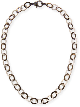 Margo Morrison Two-Tone Chain Necklace with Diamond Clasp