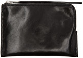 Rick Owens Black Medium Zip Pouch