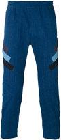 Neil Barrett stripe panel trousers - men - Cotton/Polyester/Spandex/Elastane - 46