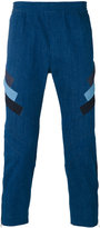Neil Barrett stripe panel trousers