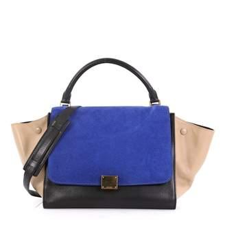 Celine Trapeze Blue Leather Handbags