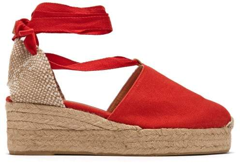 41df5f689fb Campesina 30 Canvas & Jute Espadrille Wedges - Womens - Red