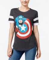 Hybrid Marvel Juniors' Captain America Sporty Graphic Tee