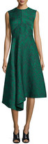 Jason Wu Sleeveless Herringbone Cocktail Dress, Jade