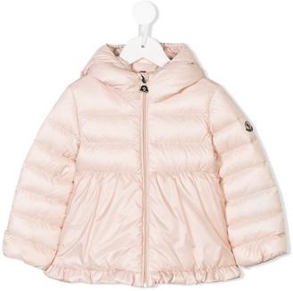 Moncler ruffled hooded jacket