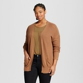 Mossimo Women's Plus Size Long Sleeve Open Layering Juniors')