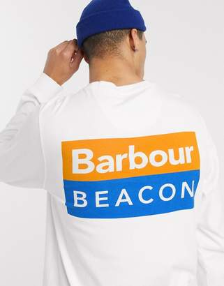 Barbour Beacon Hill long sleeve t-shirt in white