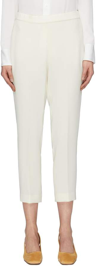 Theory 'Basic Pull On' slim fit cropped crepe pants