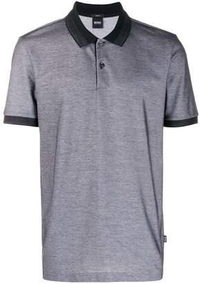 HUGO BOSS contrast polo shirt