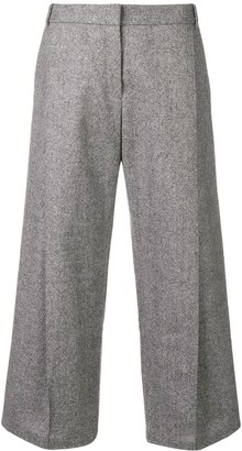 Barbara Bui Wide Leg Cropped Trousers