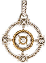 Judith Ripka Bi-Color Diamond Garland Enhancer Pendant