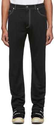 Palm Angels Black Five-Pocket Trousers