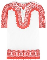 Tory Burch Isla embroidered cotton tunic