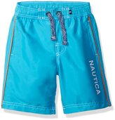 Nautica Big Boys' Swim Trunk with Marled String and Back Pocket
