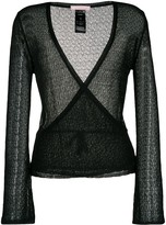 Kristina Ti open knit wrap cardigan
