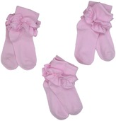 Jefferies Socks Misty Ruffle Turn Cuff 3 Pack Girls Shoes