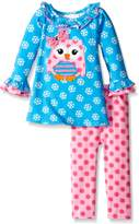 Bonnie Baby Baby-Girls Owl Appliqued Knit Legging Set
