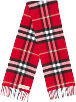 Burberry classic checked scarf - kids - Cashmere - One Size