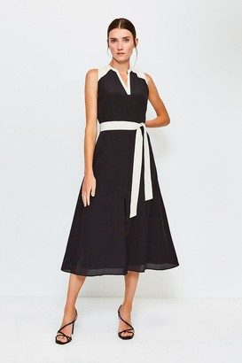 Karen Millen Silk Sleeveless Long Dress
