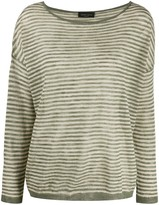 Roberto Collina striped knitted top