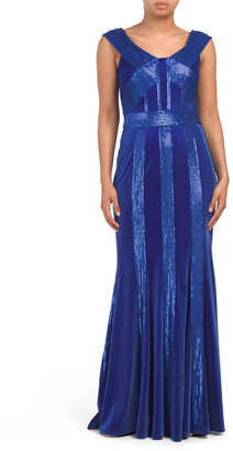 Velvet Sequin Gown