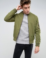 Brave Soul Garment Dyed Military Bomber Jacket