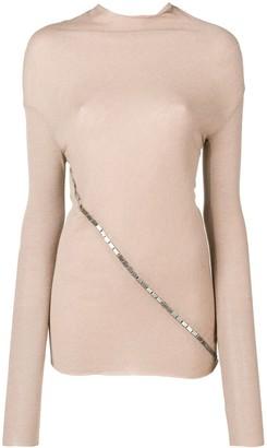 Rick Owens Lilies embellished turtleneck sweater