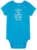 Okie Dokie Chicks Are Always Picking Me Up Short Sleeve Slogan Bodysuit - Baby NB-24M