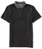 Calvin Klein 2-Tone Solid Pique Short-Sleeve Polo Shirt