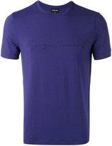 Giorgio Armani signature T-shirt - men - Spandex/Elastane/Viscose - 50