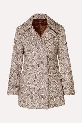 ALEXACHUNG Snake-effect Faux Leather Jacket - Snake print