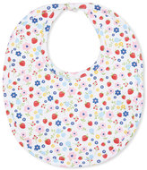Kissy Kissy Strawberry Delight Printed Baby Bib, Red/White